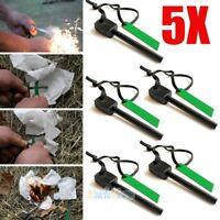 5X Survival Magnesium Flint Stone Fire Starter Emergency Lighter Kit For Camping