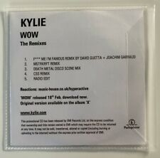 KYLIE MINOGUE -WOW THE REMIXES -RARE 5 TRACKS PROMOTIONAL CD IN A PLASTIC SLEEVE