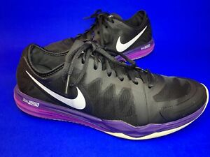 Nike Dual Fusion TR3  Running Shoes Trainers Black - Purple Size 6 Uk Vgc