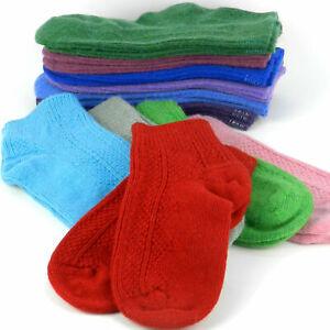 %100  Wool Lambswool Thermal Ankle Socks Man Women All Season Socks Size 6-12