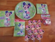 8 pc Lot Party Express Glamour Minnie Mouse Birthday Party Goods Multi-color NOS