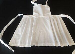 GIRLS COTTON APRON PINAFORE  Victorian Tudor Edwardian Maid  alice FANCY DRESS