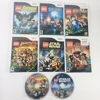 Lot of 8 Nintendo Wii LEGO Games Batman, Harry Potter, Indiana Jones, Star Wars