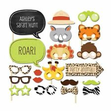 20 Fun Safari Jungle Animal Photo Booth Props on A Stick Baby Shower Kids Party