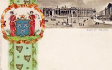 Bank of Ireland Dublin early Heraldic Vignette unused old pc Raphael Tuck