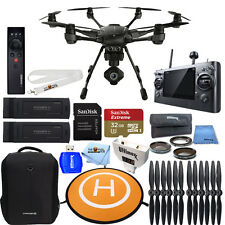 YUNEEC Typhoon H Hexacopter W/ GCO3+ 4K Camera, 2 BATTERY MEGA PRO BUNDLE NEW!!