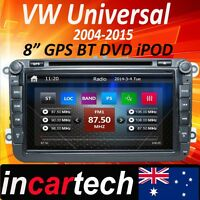 "VW Volkswagen Golf 8"" Head Unit GPS Sat NAV Car DVD Stereo Radio Bluetooth Aus"