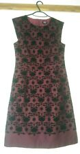 OASIS Maroon Black Dress Size 10 COTTON Evening  Special Occasion Excel Cond