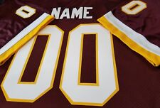 #00 Washington Redskins Football Jersey Your Name Number Sewn.4X,5XL,6XL7XL,3XL