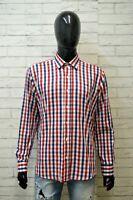 TOMMY HILFIGER Uomo Camicia Camicetta Taglia XL Maglia Shirt Hemd Quadri Cotone