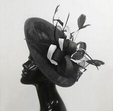 5300d7b52fc1e Caprilite Big Saucer Sinamay On Headband Fascinator Wedding Ladies Ascot Hat