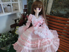 1/4 bjd MSD MDD girl doll pink dress outfits dollfie luts #SEN-101M ship US