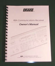 Drake R8A Instruction Manual - Premium Card Stock & Protective Covers!