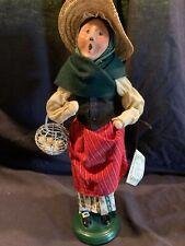 "New Listing1992 Byers Choice Caroler Cries of London Woman Egg Basket 14"""