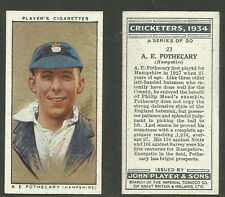 PLAYER'S 1934 CRICKETERS A.E.POTHECARY Card No 23 of 50 CRICKET CIGARETTE CARD