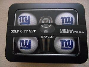 NFL New York Giants NY Golf Balls & Divot Tool Gift Set New in Tin