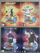 WonderCon 2013 HANDOUT NARUTO SHIPPUDEN Ultimate Ninja Storm 3 poster DUAL SIDED