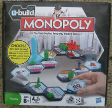 U-BUILD - MONOPOLY The Fast Dealing Property Trading Game Brand New by Hasbro