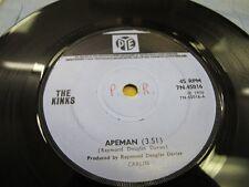 "PYE 7N45016 45rpm 7"" 1970 THE KINKS APEMAN/RATS EX!"