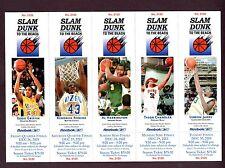 2003-04 Slam Dunk to Beach Unused Ticket Stubs LeBron James Rookie-5 RC Tickets