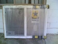"NEW:  Big White VINYL House Semi-SLIDER WINDOW 48""W x 36""H (has Nailing Flange)"
