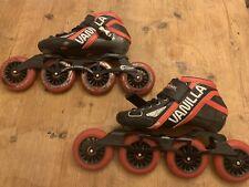 Vanilla Blackmail Speed Inline Skates Red/Blk Carbon Size 6