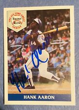 Hank Aaron 1992 Front Row All Time Great Signed Auto Card #1