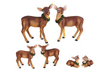 Set Of 2 Christmas Resin Reindeer Décor Wall Shelf Sitter Figurines