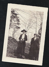 Vintage Antique PhotographTwo Women Wearing Cool Outfits in the Woods