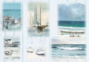 Reispapier-Motiv Strohseide-Decoupage-Vintage-maritim-nautical Harbour-19156