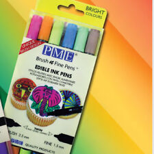PME edible ink pens double ended Brush & Fine Bright Colours 1/2 price short BBD
