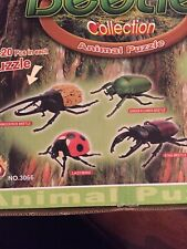 Set of 4 Beetle Insect Part IV 4D 3D Animal Puzzle Realistic Model Kit Toy New