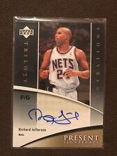 NBA Auto Card Richard Jefferson Upperdeck Trilogy 2006-07