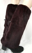 Fur Leg Warmers Boots Overcoat Genuine Warmer Dark Aubergine