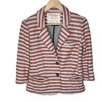 Anthropologie Cartonnier Terry Striped Women's Blazer Jacket, Size XS