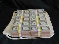 Prop Novelty Money Filler Packs 50 x $10K ($500K) Solid Blocks.Single Sided