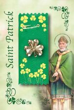 St Patrick's Day Badge Shamrock Motif Irish Blessing St Patrick's Gift Ribbon