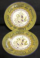 "Sakura LES OLIVES 9 3/8"" Salad Plates 2 EXCELLENT"