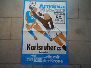 ORIGINAL ANKÜNDIGUNGSPLAKAT vom 06.02.1982 ARMINIA BIELEFELD : KARLSRUHER SC KSC