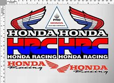 *1 set vintage HRC honda wing racing pro vinyl decal sticker die cut motor bike