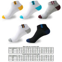 Men Invisible Socks Soft Cotton Mesh Breathable Short Ankle Boat Socks hi