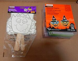 Halloween Foam Activity Kit & Paper Stick Puppets By Creatology 4+Masquerade 34Z