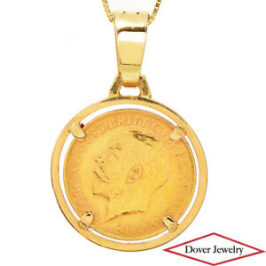 Estate 22K Old Medallion Coin 18K Gold Pendant 11.8 Grams NR