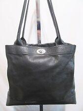 Banana Republic, Large Black Leather Structured Shoulder Satchel Tote Handbag