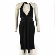 DOLCE GABBANA Dress Black Halterneck Bow Front Size 38 UK 6 WW 563