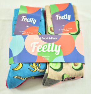 women's 4 pack of Feetly good food series socks MSRP $18 avocado, sushi, bananas