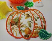 Pumpkin Fall Pattern Pot Holder, Oven Mitt, Trivet, Potholder - Made in the USA