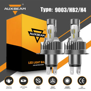 AUXBEAM 30W H4 9003 LED Car Headlight Kit Replace Bulb Lamp Globe High Low Beam