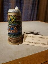 Ducks Unlimited First Edition 1987 Wood Duck Stein with Lid