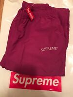Supreme Arc Logo Track Pant Magenta Purple Brand New Bogo FW17 LARGE